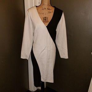 Long sleeve Contrast dress